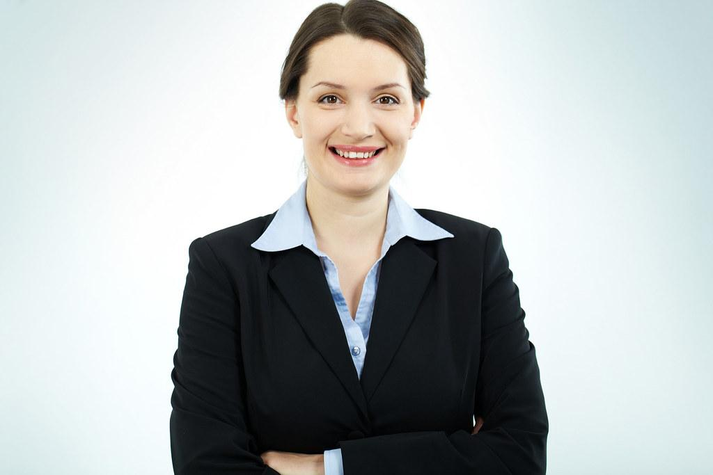 Happy Business Woman Receiving Business Development Plan